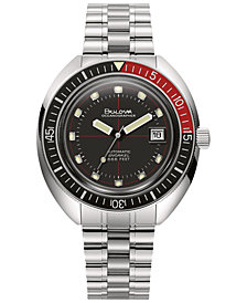 Bulova Men's Automatic Devil Diver Stainless Steel Bracelet Watch 44mm