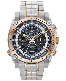 Bulova Men's Chronograph Precisionist Two-Tone Stainless Steel Bracelet Watch 46.5mm