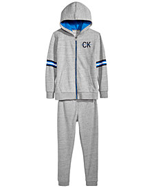 Calvin Klein Big Boys Zip-Up Hoodie & Sweat Pants Separates