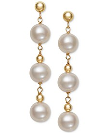 Cultured Freshwater Pearl (7mm) Drop Earrings (Also in Pink Cultured Freshwater Pearl)