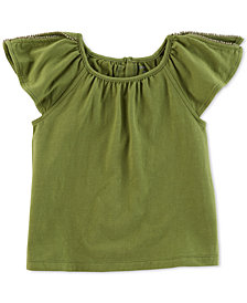 Carter's Little Girls Split-Shoulder Top