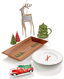 martha stewart holiday dinnerware collection created for macys - Animated Christmas Outdoor Decorations Clearance