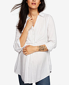 A Pea In The Pod Maternity Twist-Front Blouse