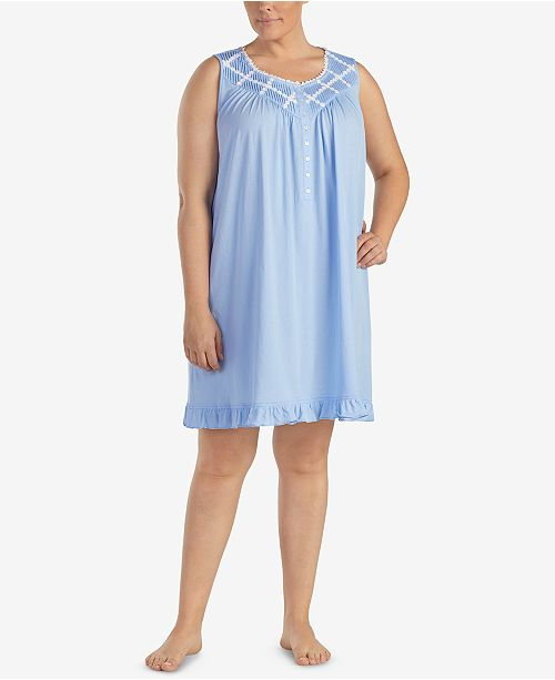 2edb4e41d5 Eileen West. Plus Size Pintucked Short Nightgown. Be the first to Write a  Review. main image