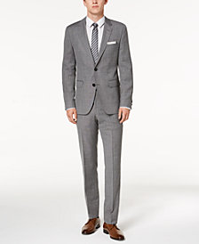 HUGO Men's Modern-Fit Light Gray Patterned Suit Separates