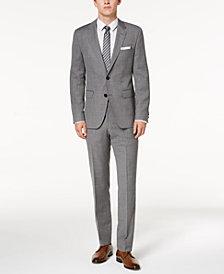 HUGO Men's Modern-Fit Light Gray Patterned Suit Separates