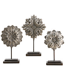 Uttermost Alarik Aged Ivory Florals, Set of 3
