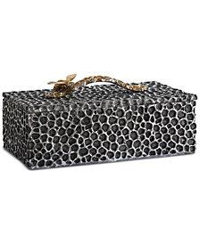 Uttermost Hive Aged Black Lidded Box