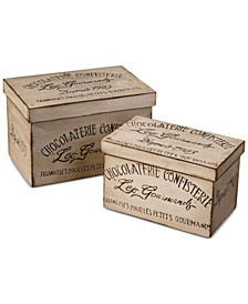 Chocolaterie Decorative Boxes, Set of 2