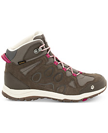Jack Wolfskin Women's Rocksand Texapore Mid Waterproof Hiking Boots, Dark Ruby from Eastern Mountain Sports