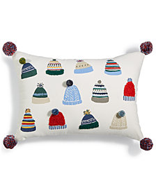 "Martha Stewart Collection Fuzzy Hats 14"" x 20"" Decorative Pillow, Created for Macy's"