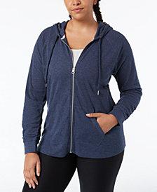Calvin Klein Plus Size Textured Hoodie
