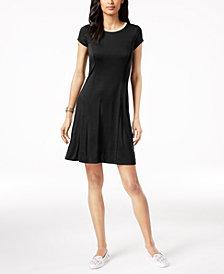 MICHAEL Michael Kors Metallic-Trim A-Line Dress, Regular & Petite
