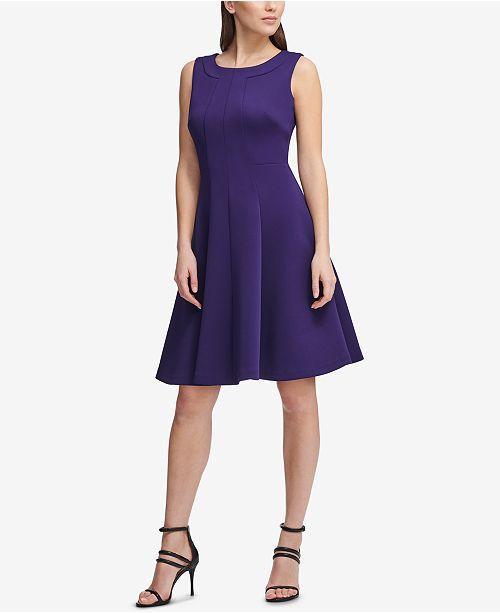 7d6086ff98 ... DKNY Sleeveless Fit   Flare Dress