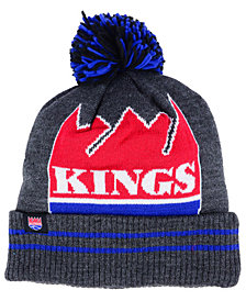 Mitchell & Ness Sacramento Kings Black Heather Hi-5 Pom Knit