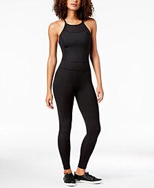 Calvin Klein Performance Halter-Neck Mesh-Inset Jumpsuit