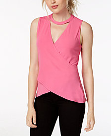 RACHEL Rachel Roy Cross-Front Keyhole Top, Created for Macy's