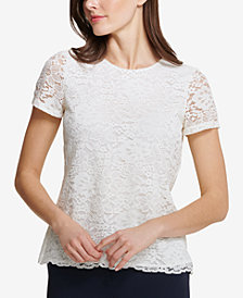 Tommy Hilfiger Floral-Lace Top