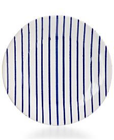 Vietri Net & Stripe Stripe Dinner Plate