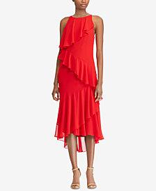 Lauren Ralph Lauren Asymmetrical Gown