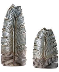 Invano Set of 2 Leaf Vases