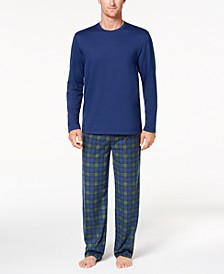 Men's Fleece Pajama Set, Created for Macy's