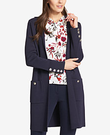 Tommy Hilfiger Long Open-Front Cardigan Jacket