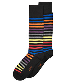 AlfaTech by Alfani Men's Striped Dress Socks, Created for Macy's