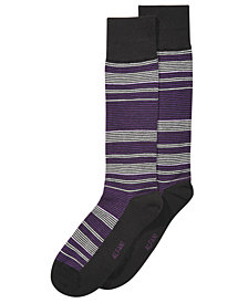 AlfaTech by Alfani Men's Horizon Striped Dress Socks, Created for Macy's