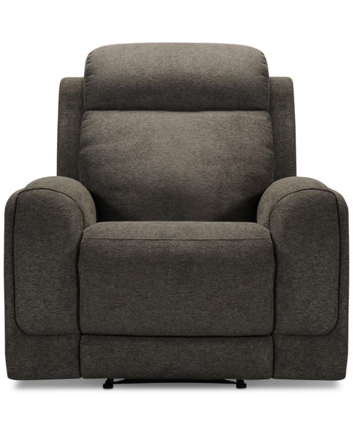 Furniture CLOSEOUT! Winterton Fabric Power Recliner With Power Headrest, Lumbar And USB Power Outlet & Reviews - Recliners - Furniture - Macy's