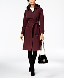 Belted Hooded Trench Coat