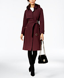 MICHAEL Michael Kors Single-Breasted Belted Trench Coat