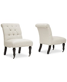 CLOSEOUT! Mikhail Slipper Chair (Set of 2), Quick Ship