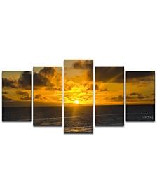 Ready2HangArt 'Niue Sunset' 5-Pc. Canvas Art Print Set