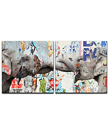 'Saddle Ink Elephant VI' 2-Pc. Canvas Art Print Set