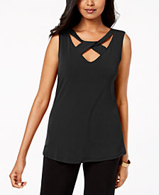 JM Collection Twist-Neck Tank Top, Created for Macy's