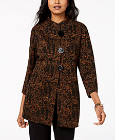 JM Collection Petite Three-Button Jacket, Created for Macy's