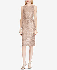 Lauren Ralph Lauren Metallic Sequin Sheath Dress