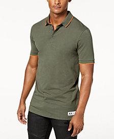A|X Armani Exchange Men's Camo-Detail Slim Fit Polo