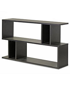 Rongo 2 Shelf Modern Bookshelf, Quick Ship