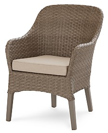 CLOSEOUT! Silver Lake Indoor/Outdoor Dining Chair, with Sunbrella® Cushions, Created for Macy's