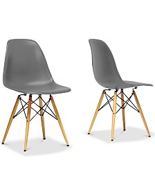 Sehrish Shell Chair (Set of 2), Quick Ship