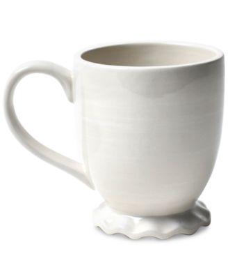 Signature Ruffle White Mug