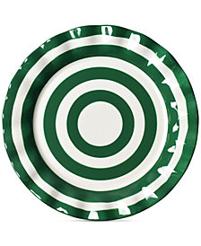 Coton Colors Emerald Collection Spot On Ruffle Emerald Dinner Plate