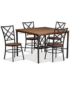 Brison 5-Pc. Dining Set (1 Table & 4 Chairs), Quick Ship