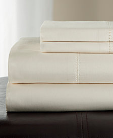 Andiamo Cotton 500 Thread Count 4-Pc. White California King Sheet Set