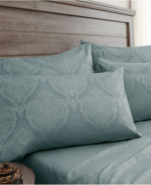 Elite Home Jacquard Damask 800 Thread Count 6-Pc. Queen Sheet Set