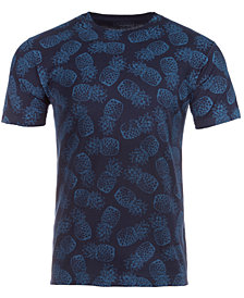 Club Room Men's Pineapple Printed T-Shirt, Created for Macy's