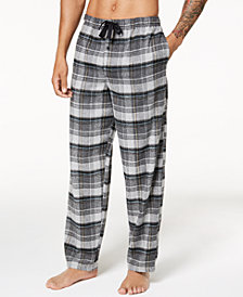 Perry Ellis Men's Plaid Flannel Pajama Pants