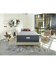"Beautyrest Platinum Preferred Cedar Ridge 14"" Extra Firm Mattress Set - Queen Split"